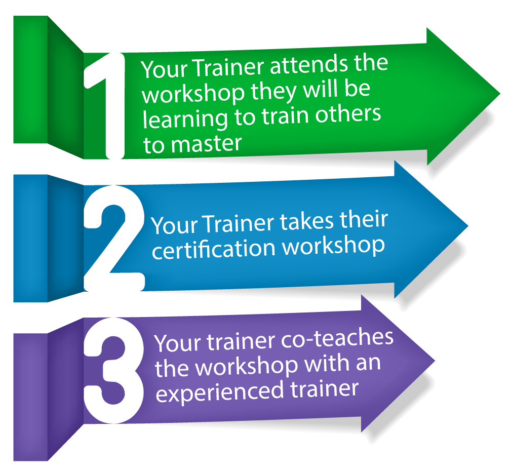 train the trainer This guide is self-contained for individual directed just-in-time training, targeted to the potential (non-career) instructor the material is designed at a high level to be quick absorbing, condensed and a simple guide that will aid you in becoming a successful first time instructor.